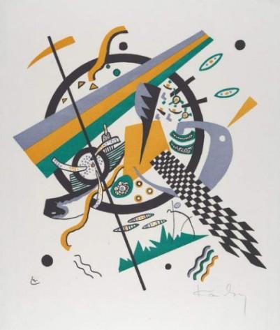 Wassily Kandinsky - Kleine Welten IV (Small Worlds IV) 1922 (lithograph printed - (MeisterDrucke-379576)